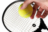 Bal en tennis racket 2 — Stockfoto