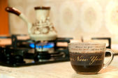 Préparation du café en turc — Photo