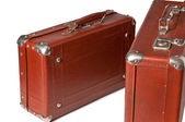 Sixty years old suitcases — Stock Photo