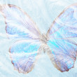 Butterfly for freezing glass — Stock Photo