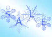 Snowflake with sale — Stock Photo
