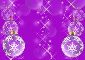Violet christmas balls — Stock Photo