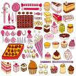 Stock Vector: Set of vector sweets
