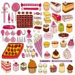 Set of vector sweets — Stock Vector