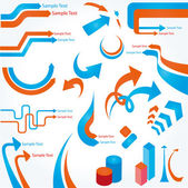 Abstract design elements. Vector illustration. — Stock Vector