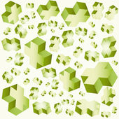 Geometric crosses 3d vector illustration Cube Background — Stock Vector