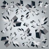 Croci geometrico 3d vettoriale illustrazione cubo sfondo — Vettoriale Stock