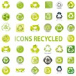 38 set recycle icons vector — Stock Vector #4690559
