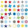Vector - Collection of stars abstract symbol - Stock Photo