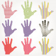 Abstract hands. Vector - Stock Vector