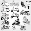 Stock Photo: Motorcycle set - vector