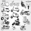 Motorcycle set - vector — Stock Photo