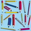 Set vector illustration of pencils - Stock Vector