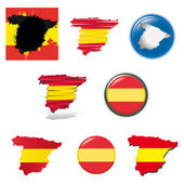 Set of national subjects Spain — Stock Vector
