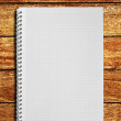 Blank notebook on the wooden table — Stock Photo