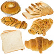 Bread and croissant — Stock Photo
