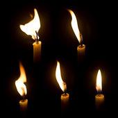 Svíčka oheň — Stock fotografie