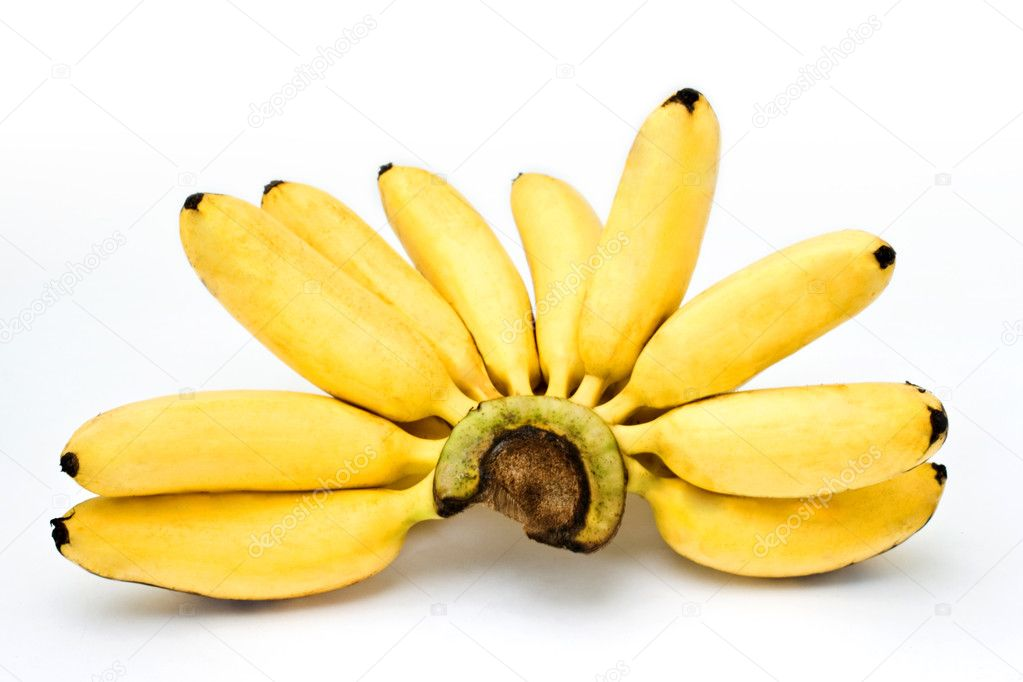 The banana on the white background, Isolated. — Stock Photo #3965137