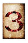 Liczba trzy — Zdjęcie stockowe