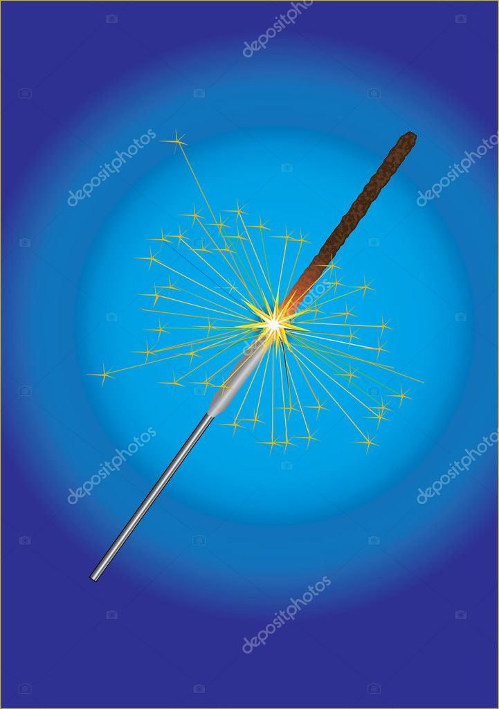 Sparkler firework sparks a little holiday fun — Stock Photo #4268027