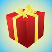 Boîte avec un cadeau — Vecteur