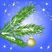 Christmas tree. Vector — Stock Vector