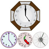 Wall clock vector — Stock Vector