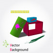 3d abstract background — Stock Vector