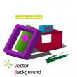 3d abstract background. Vector — Stock Vector