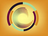 Abstract lines with circles. Vector — Stock Vector