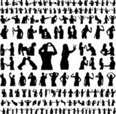 Hundreds Of Silhouettes - Vector — Stock Vector