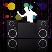 Music poster.DJ. — Stock Vector