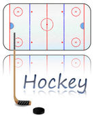 Hockey Field — Stock Vector