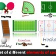 Set of elements of sport. - Stock Vector