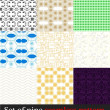 Set nine seamless patterns — Stock Vector