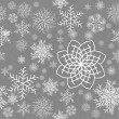 Abstract Seamless Snowflake gray Pattern — Stock Vector #4326876