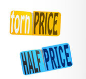Half Price Sticker. Vector. — Stock Vector