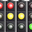 Traffic Light. Variants. — Stock Vector