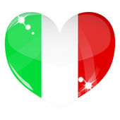 Vector heart with Italy flag texture — Stock Vector