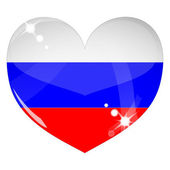 Vector heart with Russia flag texture — Stock Vector