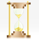 Gold Sand Glass Clock — Vector de stock