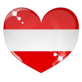 Vector heart with Australia flag texture — Stock Vector