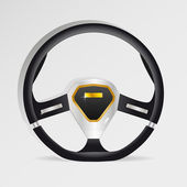Steering wheel - vector illustration — Stock Vector