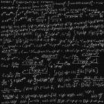 Maths Chalk Board — Stock Vector