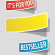 Three realistic colorful sticker for your text. — Stock Vector