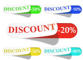 Glossy Retail Sticker Set: Sell And Discount — Stock Vector