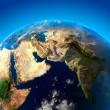 mooie aarde - Arabisch schiereiland en india vanuit de ruimte — Stockfoto