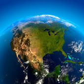 Nordamerika aus dem weltraum — Stockfoto