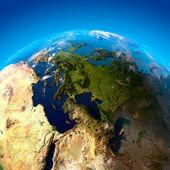 Blick auf europa aus einer höhe von satelliten — Stockfoto