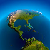 Caribbean, Pacific and Atlantic Oceans — Stock Photo